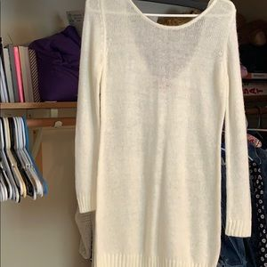 Sweaters - Scoop back sweater tunic